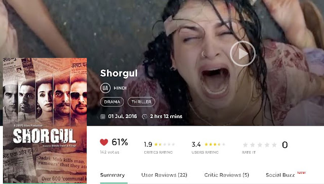Shorgul (2016) Full Hindi Movie in HD 720p avi mp4 3gp hq free