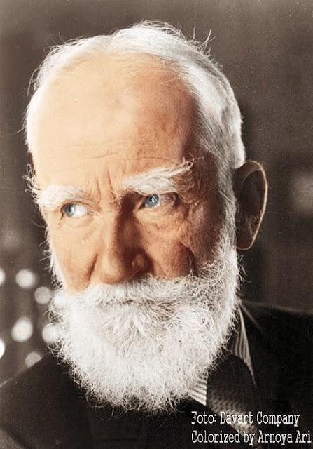 George Bernard Shaw, colorized