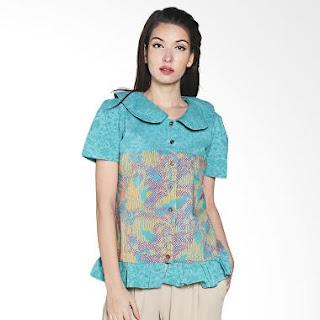 Baju Batik Etnik Lengan Pendek Modern Terbaru