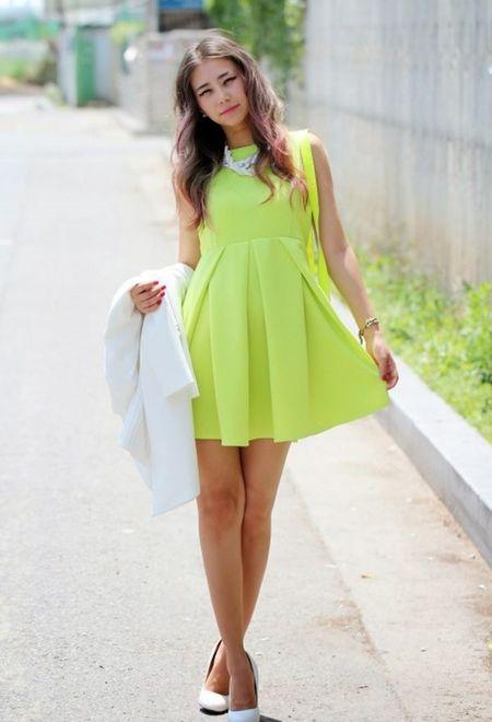 Vestidos De Baño Verde Limon:Trajes de Moda para Mujer