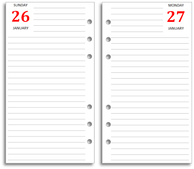 Download free 2015 diaries for your Filofax Personal