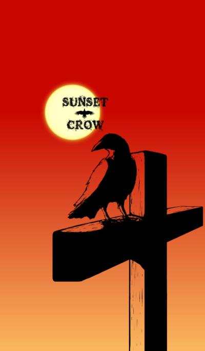 Sunset crow