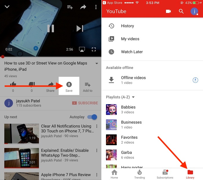 How to download youtube video tech skills if you have iphone or android mobile install youtube red app when you play any video in red youtube there is save option under the video ccuart Choice Image