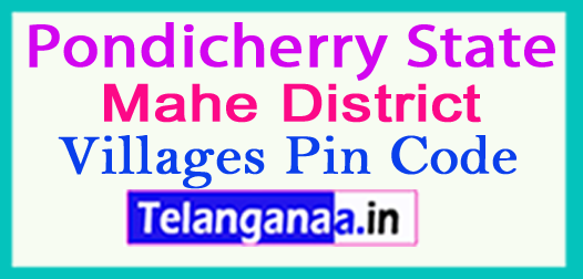 Mahe District Pin Codes in Pondicherry State