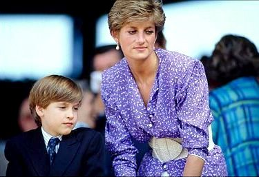 Prince William and Lady Diana