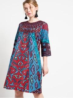 Dress Batik Modern Artis
