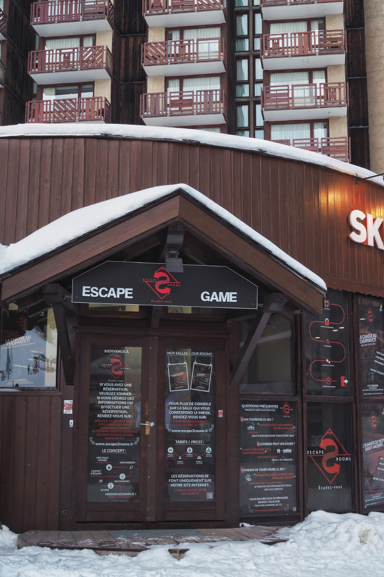 """Escape game """"Escape 2 rooms"""" dans la station de La Plagne"""