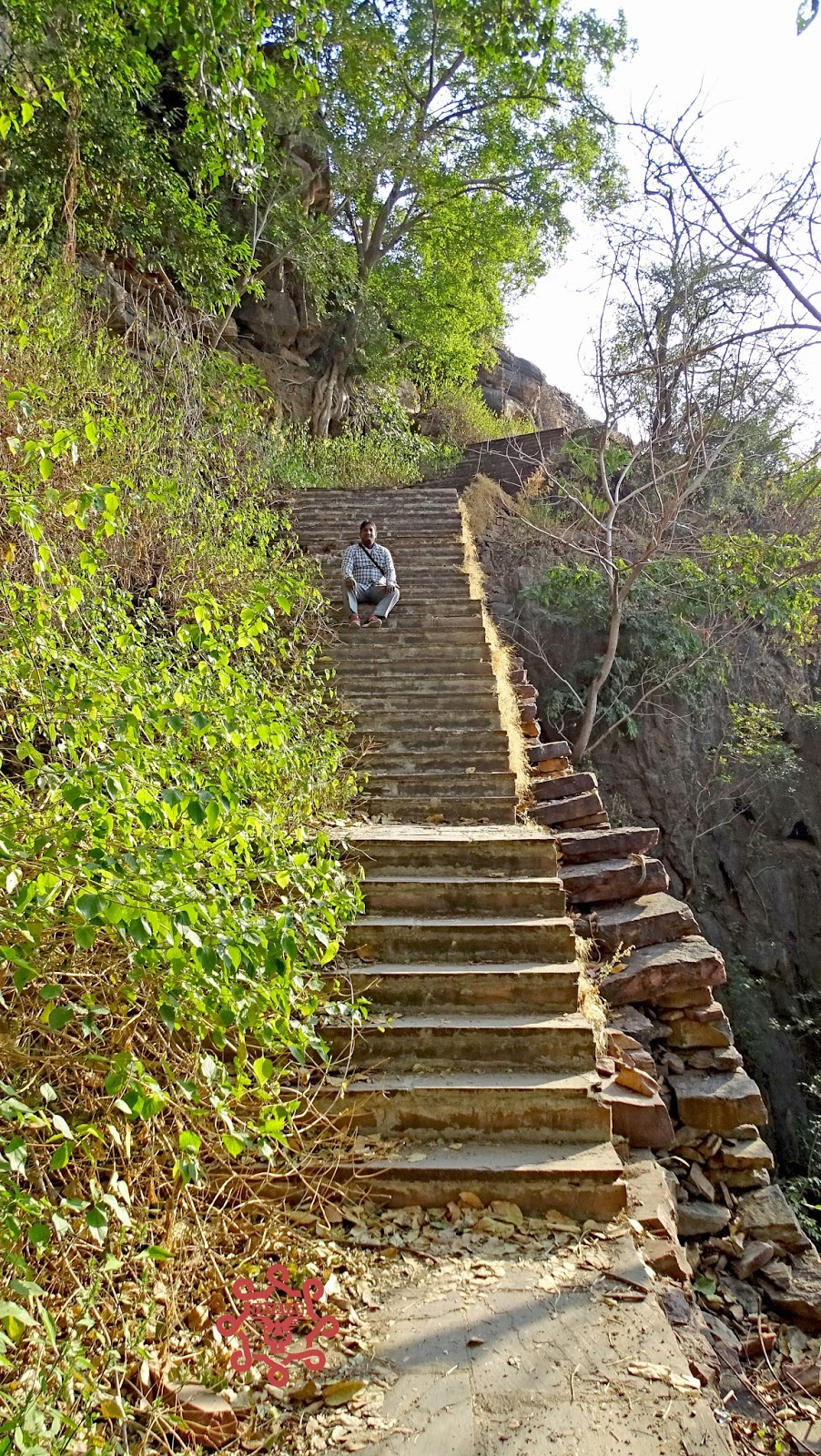 Downstream stairs of Menal waterfall