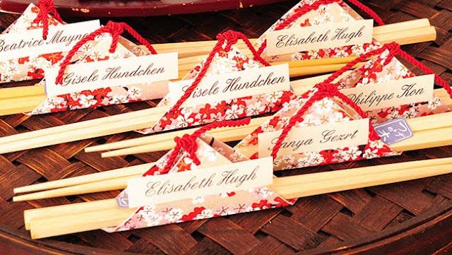 chopsticks wedding favor