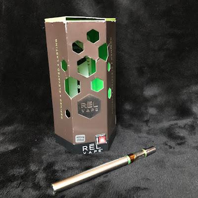 REL vape single use 420mg cannabis oil vape from Oregon