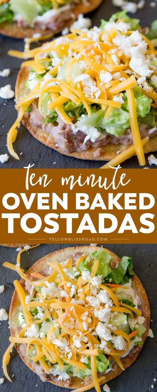 Ten Minute Oven Baked Tostadas