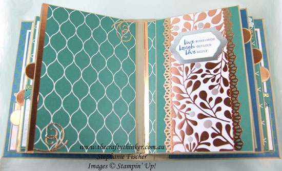 #stampindreams, #minialbum, mini album, Eastern Palace, Eastern Medallions, 3D project, #thecraftythiner, Stampin Up Demonstrator, Stephanie Fischer, Sydney NSW