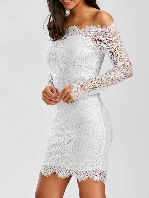 ROSEGAL - royal blue dress / long white lace dress / wishlist.
