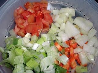 verduras para sopa de congrio