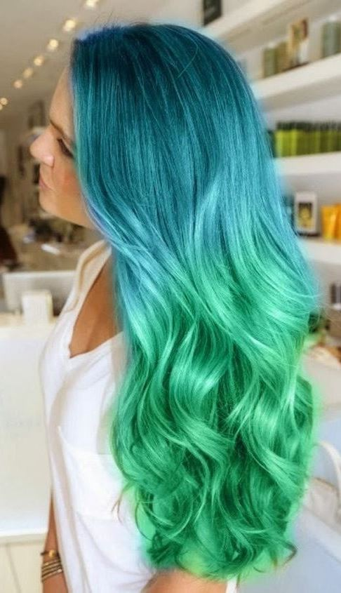 cute ombre hairstyle