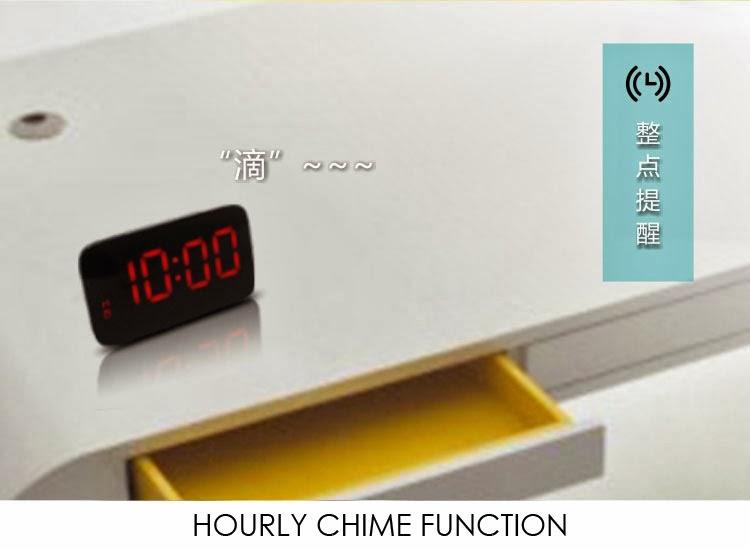 New Generation Sound Sensor LED Alarm Clock (Black Color)