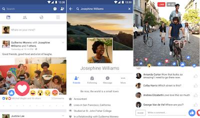 Tampilan Aplikasi Facebook For Android