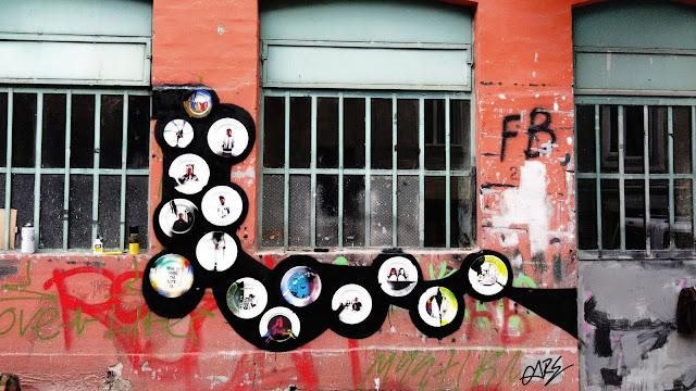 tabaklar ile sokak sanatı