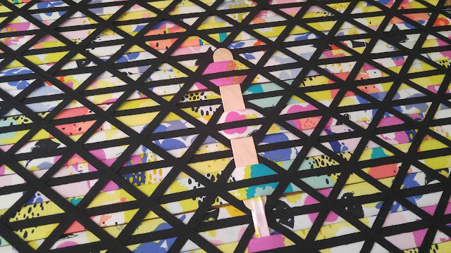 Fabric weaving mini quilt by Slice of Pi Quilts