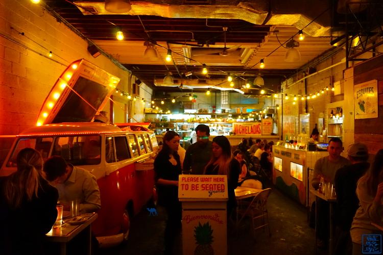 Le Chameau Bleu - Blog Voyage New York City - Entrée de Tacombi - Restaurant Mexicain à New York USA