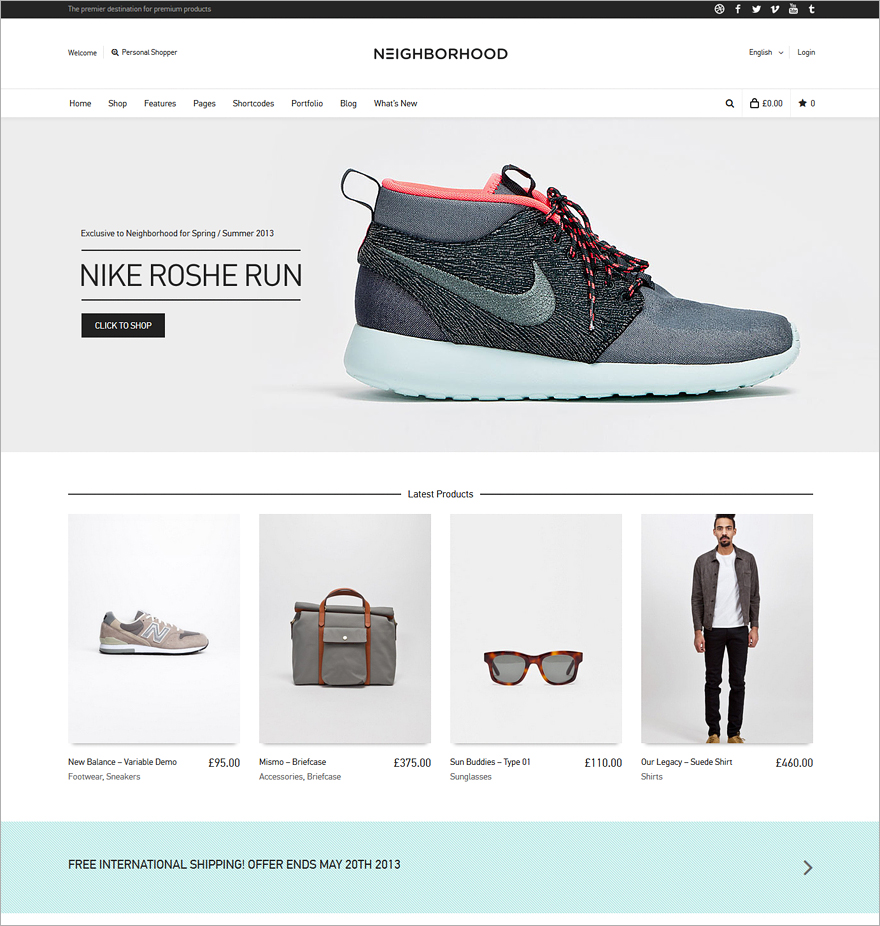 Neighborhood Multi-Purpose Shop Theme