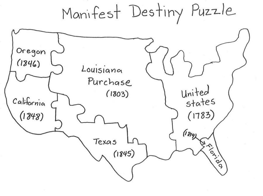 C240 September 2011 – Manifest Destiny Map Worksheet