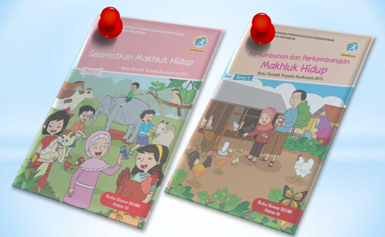 Buku Guru dan Siswa Kelas 3 dan 6 SD MI Semester 1 Kurikulum 2013 Revisi Terbaru