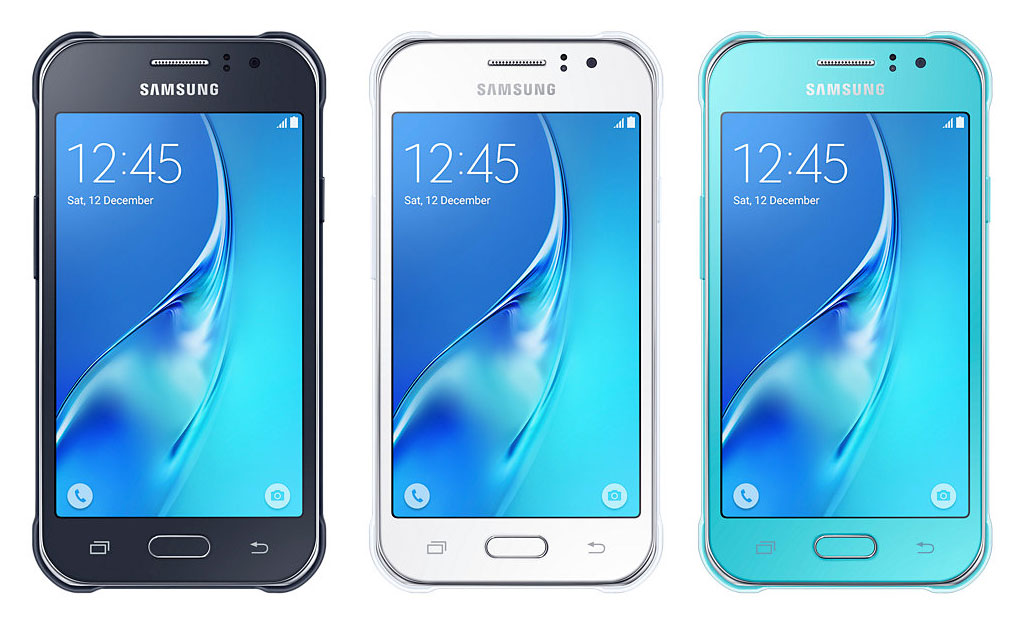 Samsung Galaxy J1 Ace Neo Black, White and Blue Colors