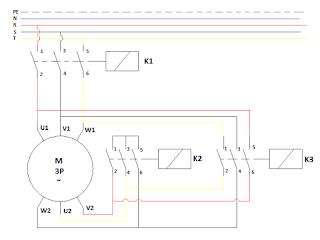 Rangkaian daya star delta wiring diagram