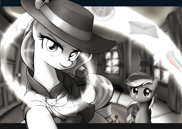 ryou14.deviantart.com/art/Detective-Rarity-and-Dash-562023114