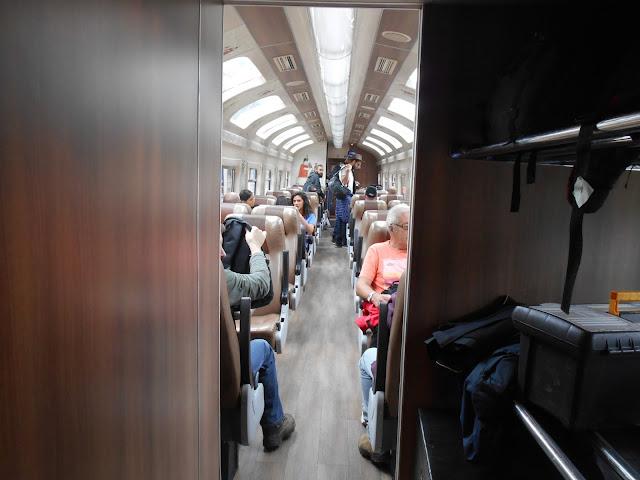 Inside the Peru rail train