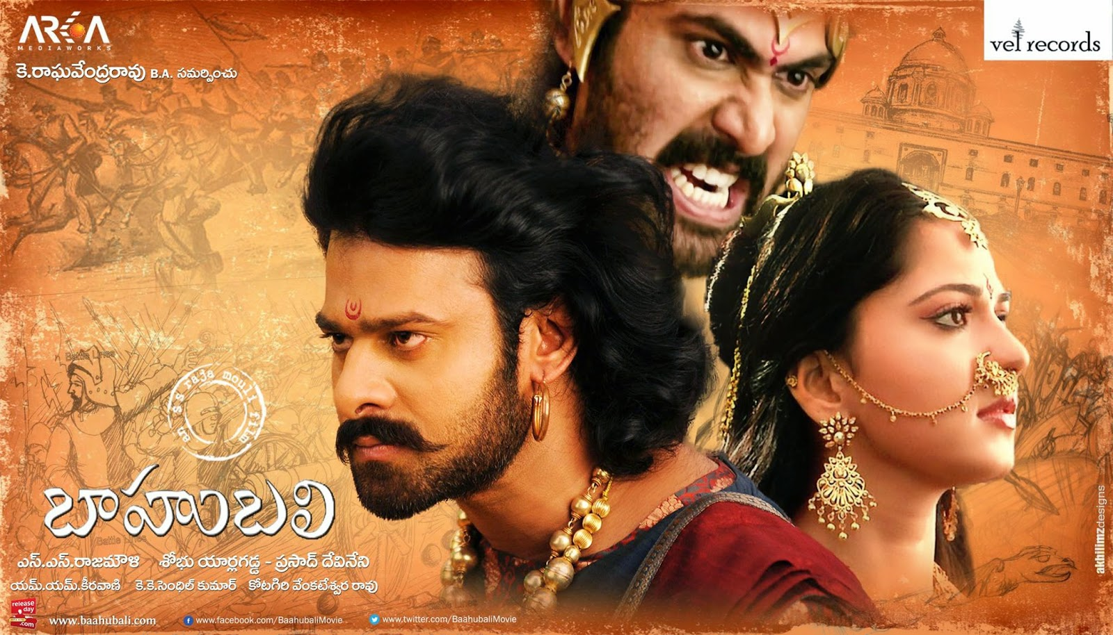 Prabhas, Anushka Shetty, Tamannaah Baahubali movie Box Office Records made by Baahubali Number of screens 5,200 screens, Lifetime nett gross (India) 600 Crore, Highest gross, Baahubali is Top Rank on MT WIKI List of highest-grossing Indian Tamil films
