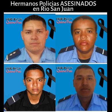 """Nicaragua: Policias asesinados  en el Criminal Golpe """"Suave"""""""
