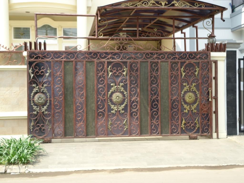 Pintu besi tempa  Bengkel las dan Canopy minimalis