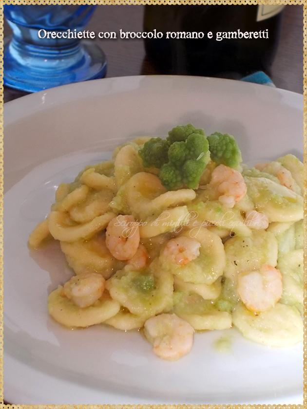 Orecchiette con broccolo romano e gamberetti