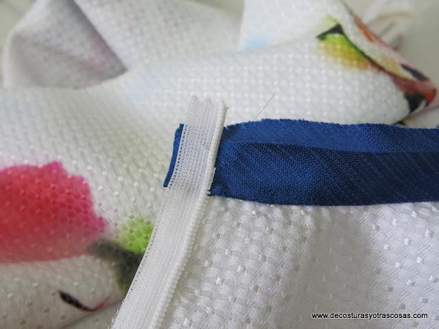 paso a paso coser una cremallera hasta el tope