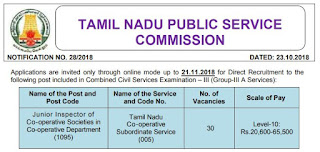 tnpsc-cooperative-society-junior-inspector-post-recruitment-vacancy-official-notification-tngovernmentjobs-in
