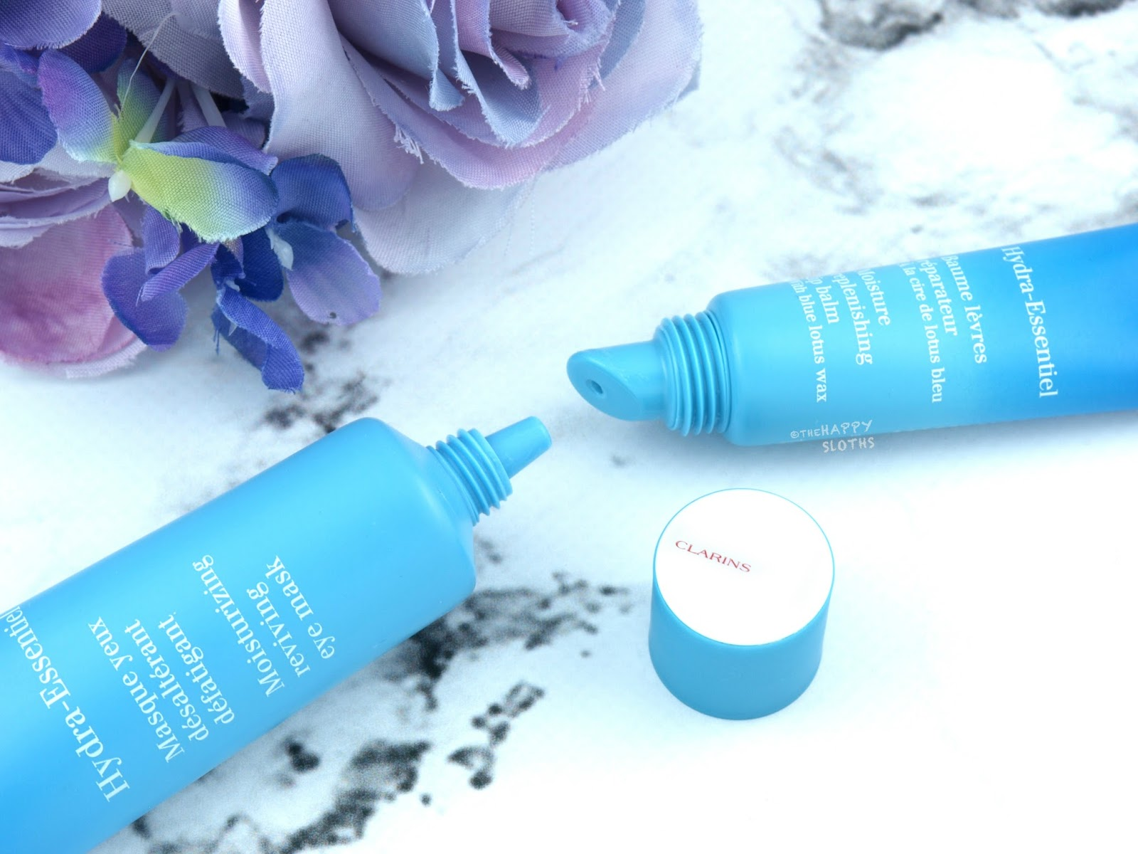 Clarins | Hydra-Essentiel Moisturizing Reviving Eye Mask & Moisture Replenishing Lip Balm: Review