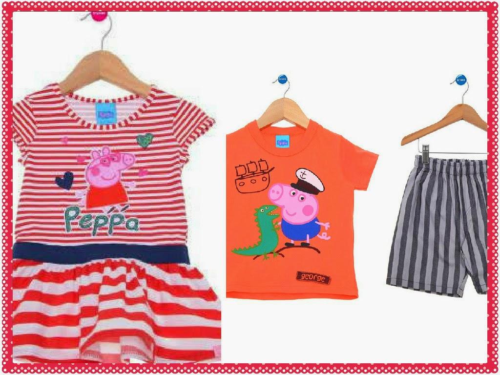 Roupinha de Peppa Pig para Crianças