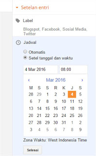 Cara Mengatur Jadwal Posting Artikel di Blog