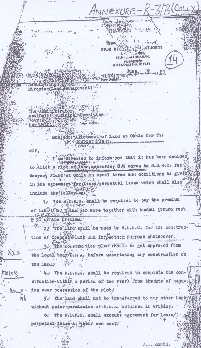 Conditions Of Land Allotted To Ndmc Imposed By Dda Breached To
