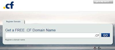 Бесплатный домен .cf