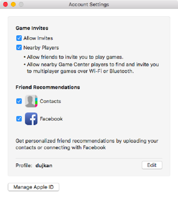 Adjusting games Center settings and notifications