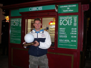 Richard Gottfried - minigolf champion of the Blackpool Pleasure Beach Adventure Golf course