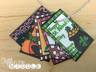 Holiday tags make a quick, inexpensive, and easy gift!