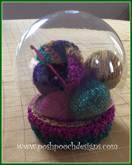 How I Made A Yarn Christmas And Globe Ornament | Posh Pooch Designs