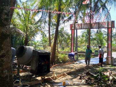 Kegaiatan Pembangunan Rabat Beton Rt 01 Rw 06 Desa Pananjung