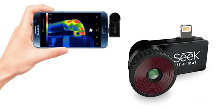 Навесная тепловизионная камера Seek Compact PRO для смартфона | Стартап Ньюс.
