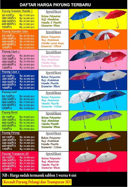 Daftar Harga Payung Grosir Murah