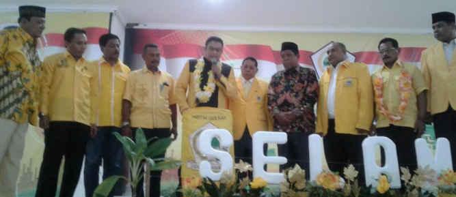 DPD Golkar Kota Tual menggelar musyawarah daerah (Musda) untuk memilih susunan pengurus partai yang baru, di Gedung LPTQ Tual, Sabtu (8/4).